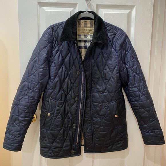 Burberry Men's Diamond Quilted Jacket